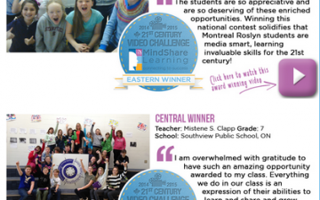 Canada's 7th Annual Digital Classroom Video Challenge Winners Capture Excellent Examples of 21st Century in Action