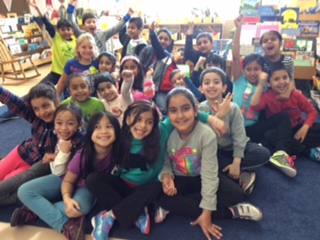 Karen Lirenman's grade one/two at Woodward Hill Elementary in Surrey, British Columbia