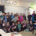 Julie Roy's grade 5 F.I. at Lou MacNarin School in Dieppe, New Brunswick